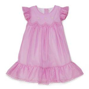 Ralph Lauren Voile Flutter Dress Pink + Bloomers
